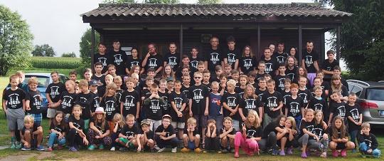 Společná táborová fotka