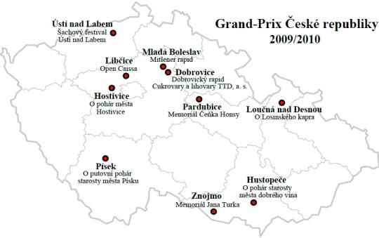 Mapa turnajů