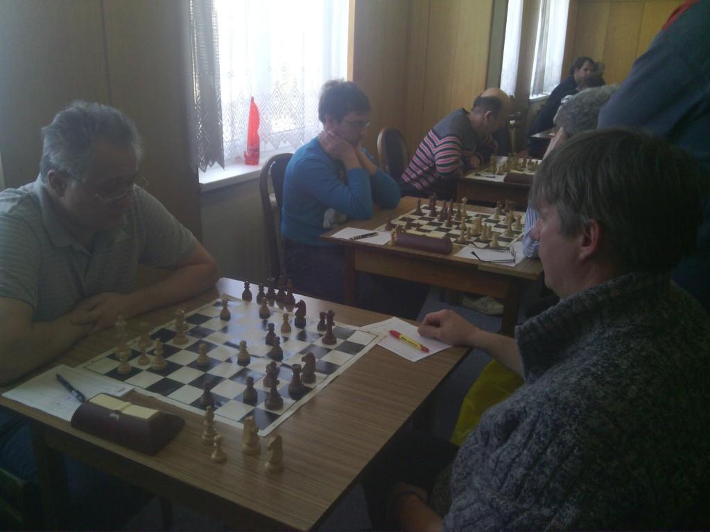 První tři šachovnice
